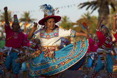 Tinku Dance Group - Arica, Chile Royalty Free Stock Images
