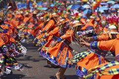Tinku-Tanz-Gruppe - Arica, Chile Stockfotografie