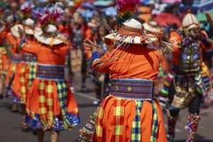 Tinku-Tanz-Gruppe - Arica, Chile Stockbilder