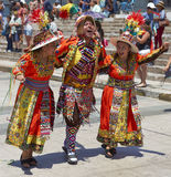 Tinkus Dance Group at the Carnival in Arica, Chile Royalty Free Stock Photography