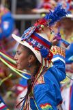 Tinkus dance group at the Oruro Carnival in Bolivia