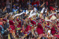 Tinkus Dance Group at the Oruro Carnival Stock Image