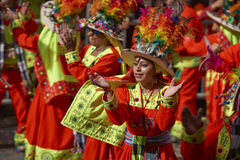 Tinkus Dance Group at the Oruro Carnival Stock Photography