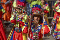 Tinkus Dance Group at the Oruro Carnival Stock Photo