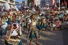 Tinkus Dancers at the Arica Carnival, Chile Royalty Free Stock Images