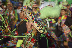 Tinkus Dancers at the Arica Carnival, Chile Stock Photo