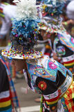 Tinkus dancers at the Oruro Carnival in Bolivia Stock Images