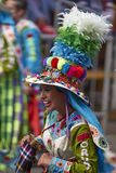 Tinkus dancers at the Oruro Carnival in Bolivia Royalty Free Stock Image