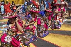 Tinkus tana grupa w Arica, Chile obrazy stock