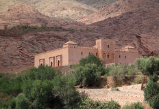 Tinmal Mosque in the High Atlas. Morocco 12th Century Tin Mel or Tinmal Mosque in the High Atlas Mountains - UNESCO World Heritage Site stock images