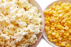 Tinned Corn And Popcorn Royalty Free Stock Image