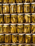 Tinned cucumbers Royalty Free Stock Photography