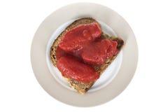 Tinned Fresh Tomatoes on Granary Toast Royalty Free Stock Photo
