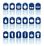 Tinned goods icons Stock Photography