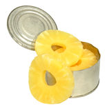 Tinned Pineapple Rings Royalty Free Stock Images