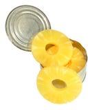 Tinned Pineapple Rings Stock Images