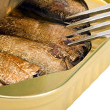 Tinned sprats Stock Photo