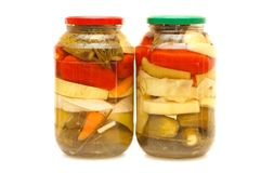 Tinned vegetables Stock Image