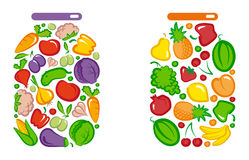 Tinned vegetables and fruit Royalty Free Stock Image