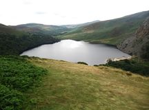 Tinnehinch lake at Wicklow Mountains. From Lough Tay Viewing Point, County Wicklow, Ireland stock photos