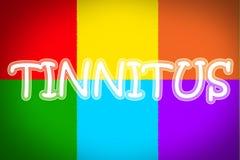 Tinnitus Concept. Text idea color royalty free stock photos