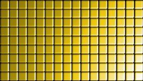 Tinny mosaic squares yellow wall background Royalty Free Stock Photos