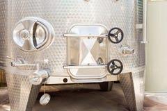 Tino di fermentazione del vino Immagini Stock Libere da Diritti