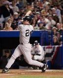 Tino Martinez batte nel 2000 il campionato di baseball Fotografia Stock Libera da Diritti