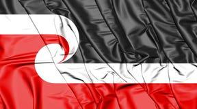 Tino Rangatiratanga Flag del movimiento maorí de la soberanía Imagen de archivo libre de regalías
