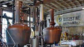 Tino in una distilleria a St Augustine immagine stock libera da diritti