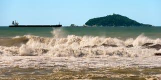 Tino- und Tinetto-Insel - Golf von La Spezia Italien stockfotos