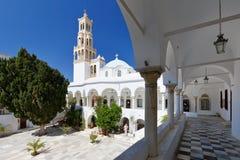 Tinos. Panagia Evangelistria church in Tinos town Stock Photo