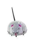 Tinplate Mouse. Tinplate grey mouse isolated over white background Royalty Free Stock Image