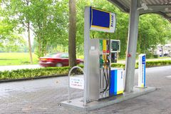 TinQ gas station in the countryside, Netherlands Stock Photography