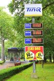 TinQ gas station in the forest, Netherlands Stock Photos