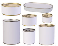 Tins with blank labels