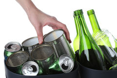 Tins and bottles Stock Photography