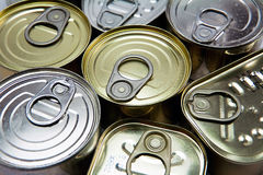 Tins of different sizes Stock Image