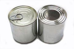 Tins of different sizes Royalty Free Stock Photos