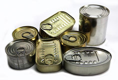 Tins of different sizes Stock Photography