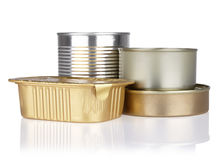 Tins of different sizes Stock Images