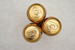 Tins of ginger beer royalty free stock images