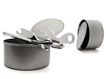 Tins with opener Stock Image