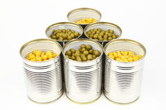 The tins Stock Images