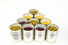 The tins Royalty Free Stock Photos