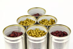 The tins Stock Photo
