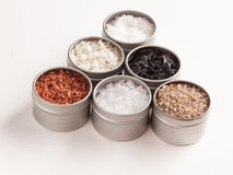 Tins of salt Stock Images