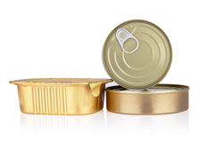Tins tins of different sizes Royalty Free Stock Photo