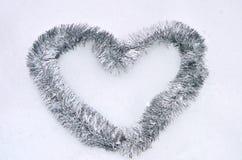 Tinsel καρδιά στοκ φωτογραφία με δικαίωμα ελεύθερης χρήσης