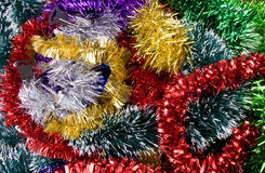 Tinsel. Background. new year's decoration Royalty Free Stock Images